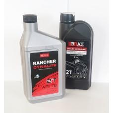 Масло 2T (1 литр, минеральное, низкодымное, API TB) .