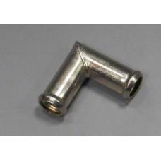 Угольник  шланга отопителя металл.