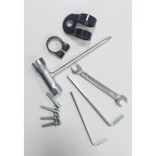 Набор инструментов мотокосы (ключи +крепления руля).